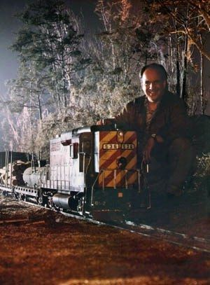 William Mesa with the Fugitive Train